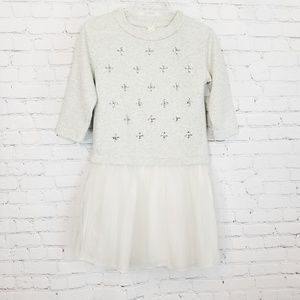 J.crew Crewcuts|Embellished Sweatshirt Tulle Dress